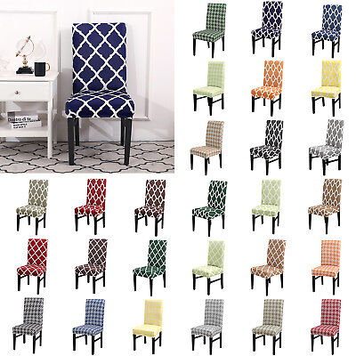 AU9.54 • Buy Spandex Stretch Seat Covers Wedding Banquet Dining Chair Cover Hotel Party Decor