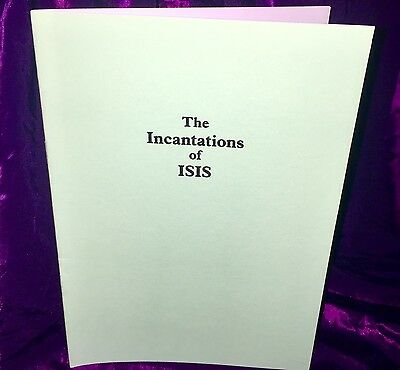 £26.70 • Buy INCANTATIONS OF ISIS Finbarr Grimoire Magick Spells Occult Magick Witchcraft
