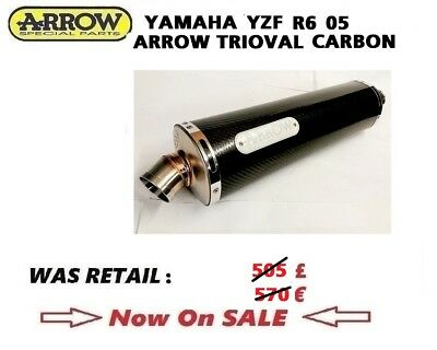 $436.71 • Buy YAMAHA YZF R6 2005 05 Exhaust Slip On ARROW TRIOVAL CARBON Silencer