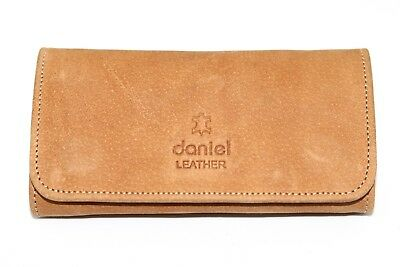 Genuine Real Leather Smoking Tobacco Pouch Pocket Case Tan Leather With Lining • 12.99£