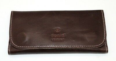 Soft Genuine Smoke Tobacco Pocket Pouch Case Real Leather Lining Crunch Brown • 12.99£