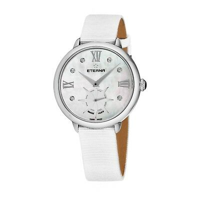 Eterna Women's Eternity MOP Dial White Strap Quartz Watch 2801.41.66.1406 • 172.94£
