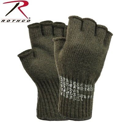 $9.98 • Buy Fingerless Wool Gloves Olive Drab G.I. Military MADE IN USA Rothco 8410