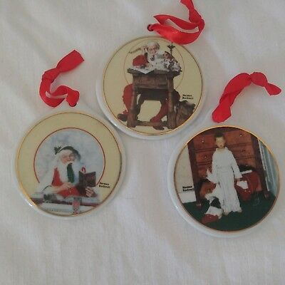 $ CDN24.30 • Buy Norman Rockwell JCPenny Christmas Ornaments (3 Pc) 1997 And 1998