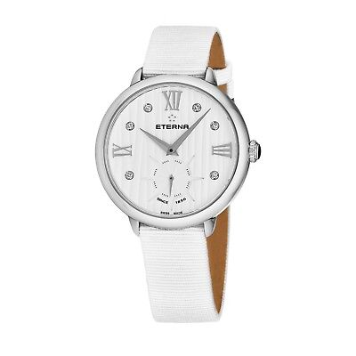Eterna Women's Eternity White Diamond Dial White Quartz Watch 2801.41.96.1406 • 143.99£