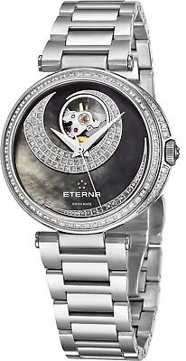 Eterna Women's Grace Black Dial Stainless Steel Automatic Watch 2943.58.89.1729 • 1,193.92£
