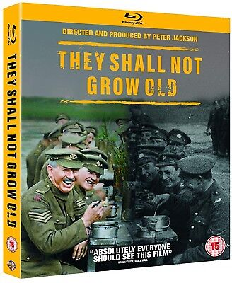 $27.03 • Buy THEY SHALL NOT GROW OLD (2018) Peter Jackson WWI Documentary NEW RgFree BLU-RAY