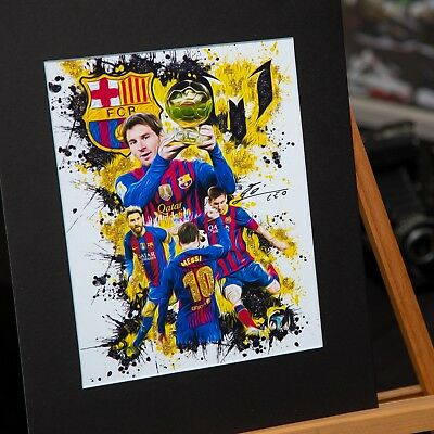 Lionel Messi #10 - Unique Artwork - FC Barcelona - 3D Effect - Handmade • 28.95£