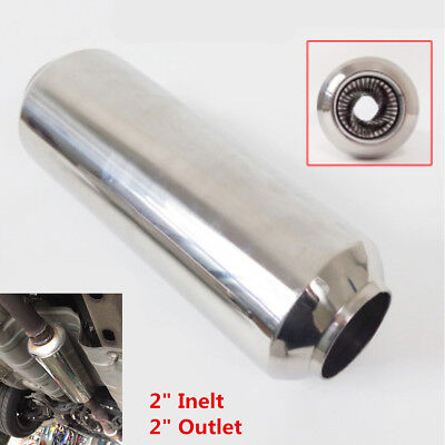 $ CDN53 • Buy Stainless 2  (51mm) Car Exhaust Middle Dissipative Muffler Pipe Tornado Silencer