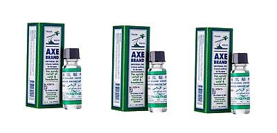 $16.70 • Buy 3 Axe Brand Medicated Oil 5ml Universal Cold Headache Muscular Pain Releif More