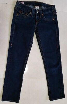 $29.90 • Buy Pre-owned Womens True Religion Lizzy Skinny Low  Jeans Made In Usa Size 24 Blue