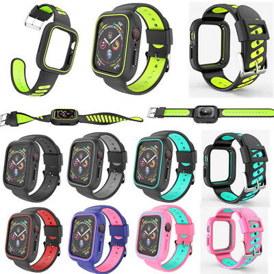 $ CDN10.69 • Buy For Apple Watch Series 4 40/44mm Protective Shockproof Case / Band IWatch Strap