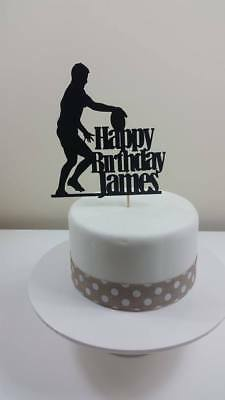 £4.55 • Buy Personalised Rugby Card Cake Topper, Birthday
