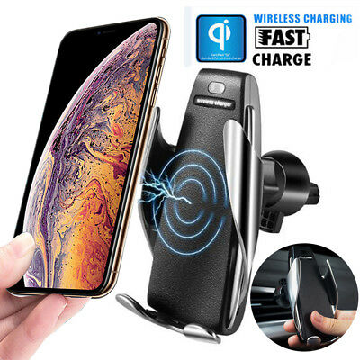 $ CDN11.85 • Buy Automatic Clamping Wireless Car Charger Fast Charging Mount For IPhone Samsung