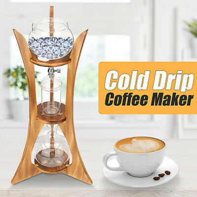View Details Cold Drip Ice Coffee Maker Glass Dutch Brew Machine W/ Filter Paper For 8 Cups • 55.87£
