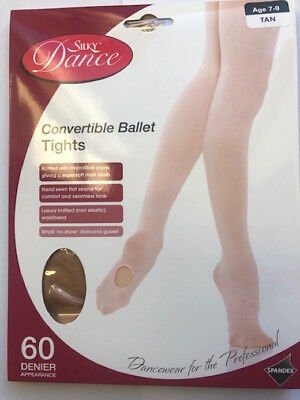 Girls Convertible Ballet Tights Tan Age 11-13 Years By Silky Childrens Dance • 5.27£