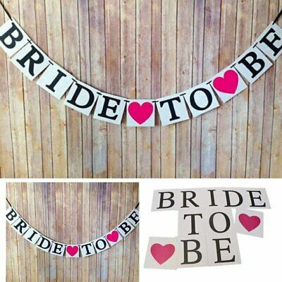 Bride To Be Bunting Banner Wedding Party Garland Hen Night Decoration Vintage • 2.10£