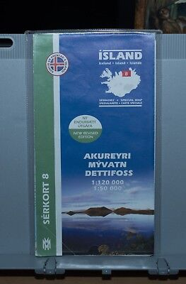 Iceland Detailed Map Myvatn & Dettifoss • 15£