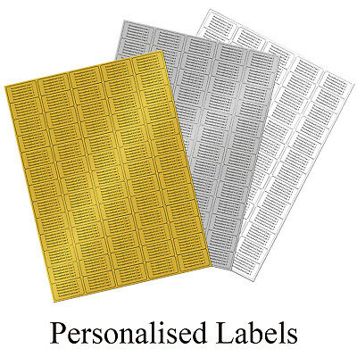 £3.50 • Buy GOLD SILVER Or WHITE Address Labels - 260 Personalised Printed Sticky  Stickers