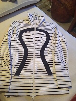 $ CDN55 • Buy Lululemon Quiet Stripes Daily Yoga Jacket Sz4