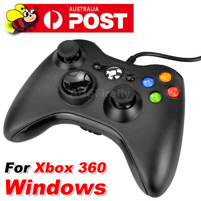 AU27.95 • Buy New Black Wired Controller For Xbox 360 Console USB Windows/PC AU