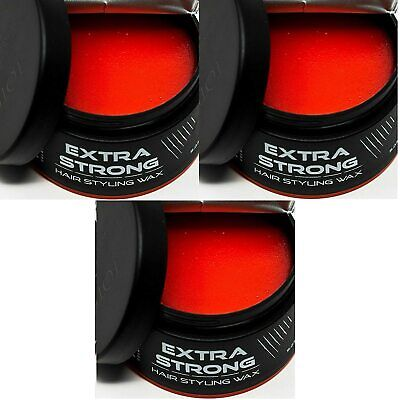 Totex Hair Styling Wax Extra Strong Strawberry Scent For Barbers * 3 PCS OFFER * • 11.99£