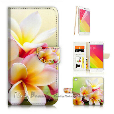 AU12.99 • Buy ( For Oppo A57 ) Wallet Case Cover P21700 Flower