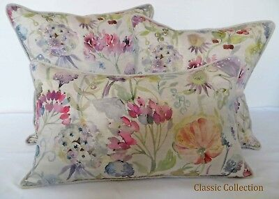£18.95 • Buy Voyage Decoration  Patrice Loganberry -handmade Piped Cushion Cover-size Choice