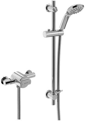 Bristan Quest Exposed Thermostatic Shower Valve With Chrome Head & And Riser • 239.99£