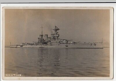 Battlecruiser HMS Tiger RP PPC, By Abraham's Of Weymouth, Unposted, C 1910's • 12£