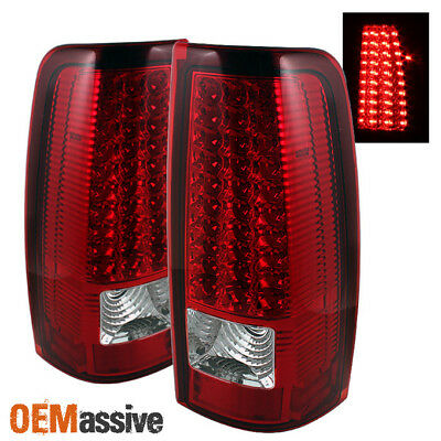 $105.50 • Buy Fits 99-02 Silverado Sierra Pickup Red Clear LED Tail Lights Lamps Left+Right