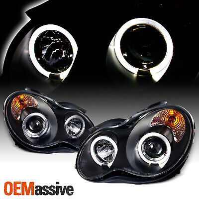 $178.96 • Buy Fits 2001-07 Benz W203 C-Class Black Bezel LED Halo Projector Headlights Lamps