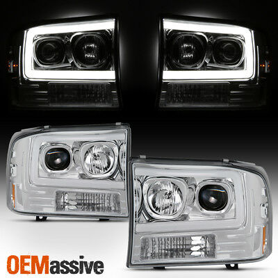 $226.96 • Buy For 99-04 Ford F250 Super Duty / 00-04 Ford Excursion Light Projector Headlights