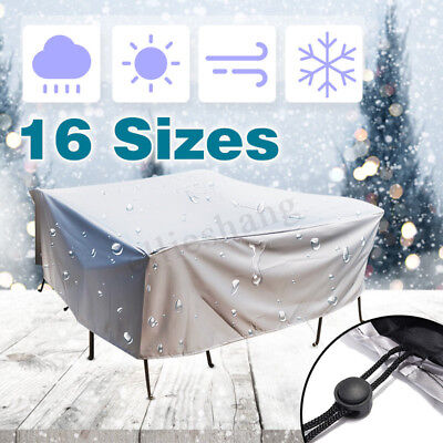 AU33.32 • Buy 16 Size Waterproof Outdoor Furniture Cover Yard UV Table Chair Shelter Protector