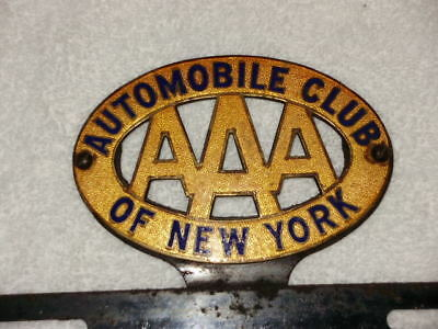 $ CDN169.70 • Buy AAA  Automobile Club Of New York Porcelain License Plate Topper Sign Gas Oil