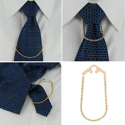 $19.95 • Buy Foster USA Tie Chain Rope Link Yellow Gold Tone Button Hole Attachement