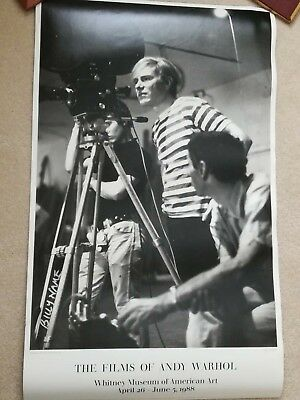 $600 • Buy Films Of Andy Warhol Poster, Whitney Museum (Signed) 1988, Offset Litho