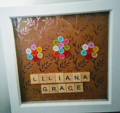 Personalised Scrabble Letter Box Frame Picture • 10£
