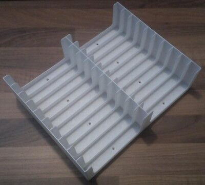 White Cassette Tape Tray (Holds 20 Tapes, 2x10) Storage/holder/stand/rack/box • 10£