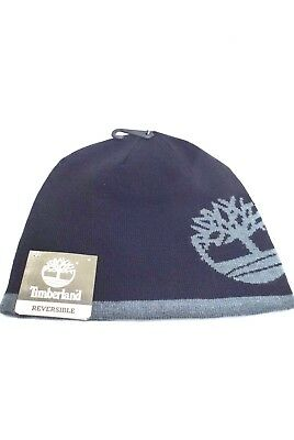 ae02a0ebb63be TIMBERLAND Winter Hats Reversible Beanie  Black Gray One Size Fit New •  19.99