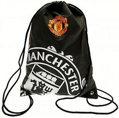 Manchester United Fc Football School Sports Gym Kit Drawstring Swim Bag Rt Mufc • 8.40£