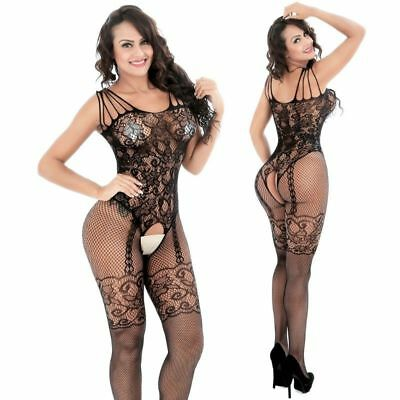 $5.77 • Buy Women Sexy Lingerie Sheer Fishnet Body Stockings Sleepwear Bodysuit Nightwear