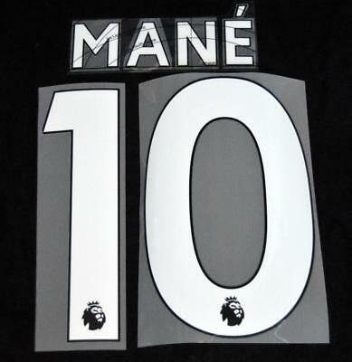$16.15 • Buy Liverpool Mane 10 Premier League Football Shirt Name Set Sporting ID 18/19 Home