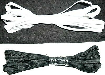 $ CDN7.24 • Buy 3 Mtrs Flat Elastic, 5mm Wide For Sewing Projects, Available In Black Or White