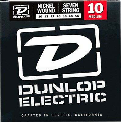 AU15.41 • Buy Dunlop Nickel Wound 7 String Electric Guitar Strings .010 - .056 (7 String Set)