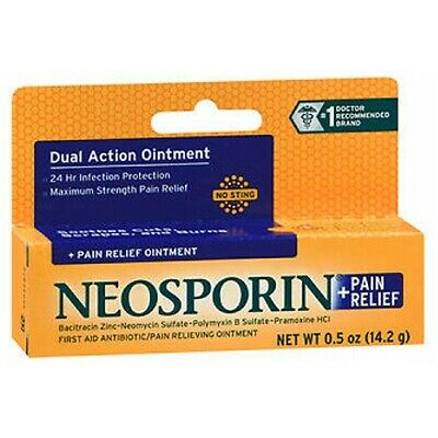 Neosporin Plus Pain Relief Antibiotic Ointment Maximum • 11.85£