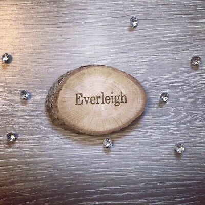 Rustic Name Places Wedding Favours Wooden Slices  • 1.50£