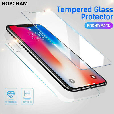 AU3.46 • Buy For IPhone 12 11 XS MAX 7 Front And Back 9H Tempered Glass Screen Protector Film
