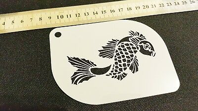 £3.95 • Buy Fish Scale Airbrush Paint Stencil Face Body Cake Kids Craft Water Gold Fish