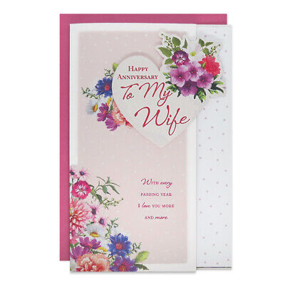 Large Wife Anniversary Card 8 Page Verse Special Keepsake Card • 4.99£